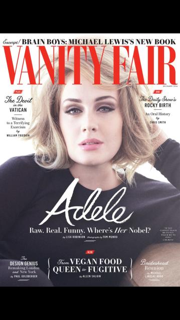 Adele Vanity Fair 2016